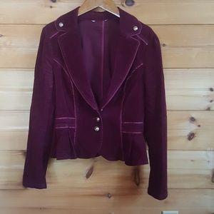 WHBM burgundy military jacket